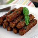 Try out these faux sausages from Fry's Vegetarian range of frozen ready meals.