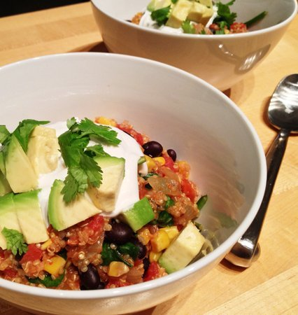This is a super easy vegan recipe to include quinoa into your diet with tantalising Mexican flavours. Photo © Angela 'Vegangela'.