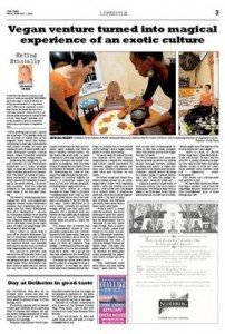 Review of vegan food choices in Cape Times