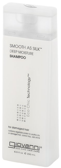 Giovanni Smooth as Silk Deeper Moisture Shampoo. At last a vegan shampoo that actually lathers! The subtle scents of grapefruit, apple and aloe extracts lift your mood as you wash your day out of your hair. Get if from Amazon today!