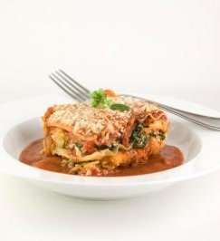 This recipe for a Simple Cheesy Lasagna is a hearty vegan dinner that can be made so many different ways. You can add all kinds of veggies to make it just right for your family. Photo © Andrea 'Free Easy Vegan Recipes'.