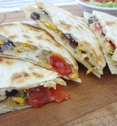 Make these delicious vegan quesadillas with cashew cheese for a nutritious and filling treat. Photo © Andrew
