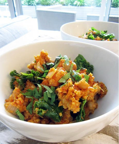 Sublime quinoa and chickpea coconut curry © Angela 'Vegangela'.