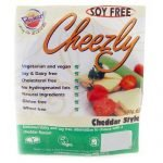Cheezly offers you firm and super melting vegan cheeses in many varieties that are made in soya or soy free versions.