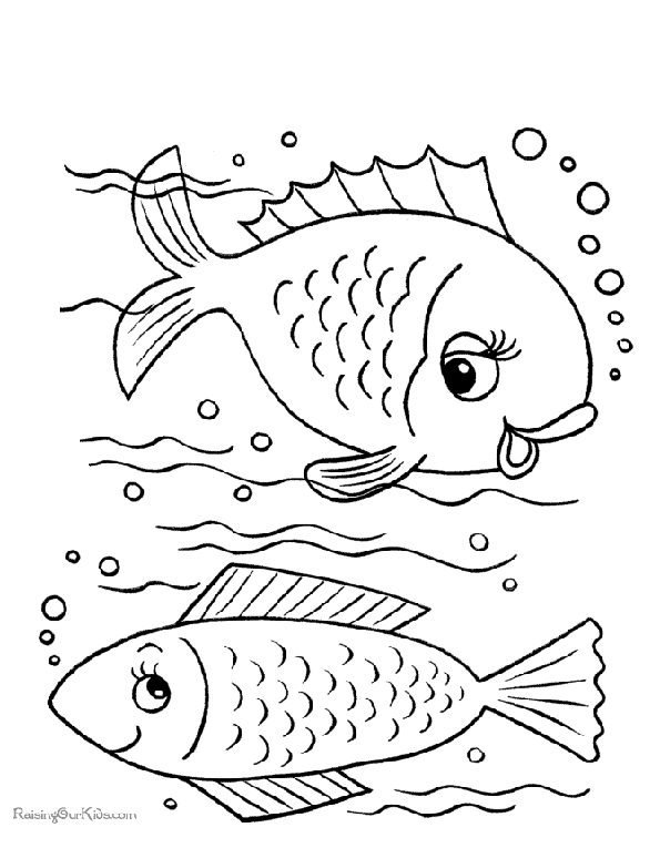 Print picture of fish to colour in. Photo © RaisingOurKids.com