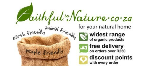 Visit Faithful to Nature the online organic shop based in South Africa. Please look for 'vegan' status to find cruelty-free products as some of their products are vegetarian.