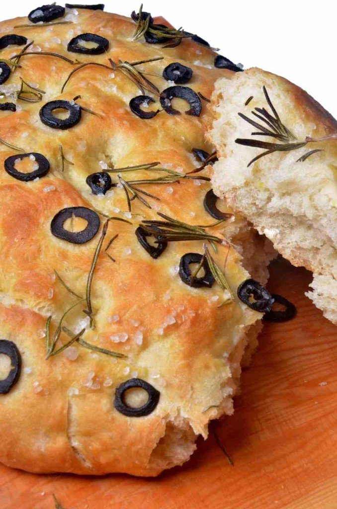 Rosemary and Olive Focaccia | The Elated Vegan