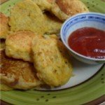 Vegan recipe for sweetcorn fritters that are a tasty kid-friendly treat that can be enjoy by the young at heart. Photo © Mel 'Simple Vegan Cooking'.