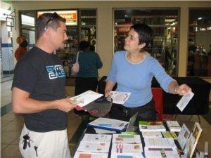 Talking to people about veganism is really fun! Photo © Karen Johnson - The Elated Vegan.