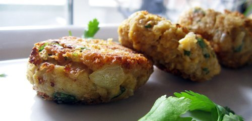 These aren't your typical hard round falafel patties, Angela has crafted a healthy version that is soft and light. Photo © Angel
